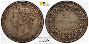 1898 Newfoundland Fifty Cents PCGS VF30