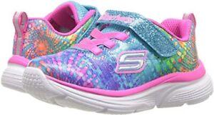 New Skechers Little Girls' Wavy Lite Slip-On Running Sneakers Size 3