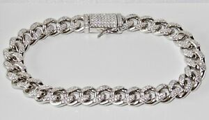 Sterling Silver Men's Cuban Curb Bracelet - 9 INCH - Solid 925 Silver