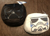 cubd Collectibles Star Wars Darth Vader & Stormtrooper Lot Of 2 Plush Cubes NEW