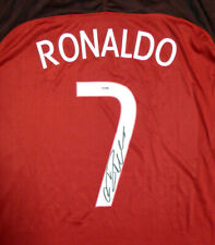 CRISTIANO RONALDO AUTOGRAPHED PORTUGAL NIKE AUTH RED JERSEY XL PSA/DNA 116589