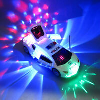 2019 Toys for Kids Police Car  LED Light Boys Cool Toy Push Back Open Door Cars