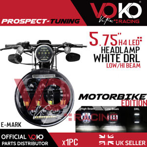 """1x LED 5.75"""" Round 45W Lamp Projector Motorcycle Headlight DRL For Harley VKOV5"""