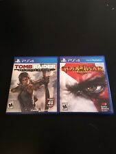 God Of War Remastered & Tomb Raider Definitive Edition PS4 PlayStation 4 Games