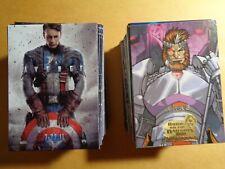 2016 Marvel Masterpieces ORANGE #1-90 /& BASE #1-90 Tier 1,2,3,4 180-Card Lot