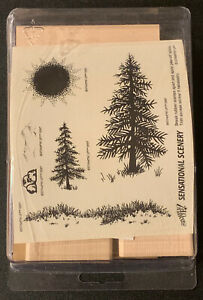 Stampin' Up! Sensational Scenery Rubber Stamp Set Landscape