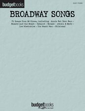 Broadway Songs Sheet Music Easy Piano Budget Books Songbook NEW 000311123