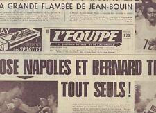 journal  l'equipe 25/06/73  CYCLISME THEVENET CHAMPION DE FRANCE