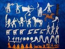 convoluté 21 Merten Plastique FIGURINES ébauche Indianer chevaux + 12 Feu zu 4cm