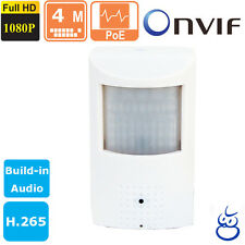 4 MP IP Spy  Hidden Motion Detector IP Camera  ONVIF Build-in AUDIO Invisible IR