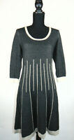 Nine West Womens Skater Dress Dark Grey Autumn Winter Warm Size Small