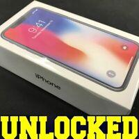 Apple iPhone X - 256GB (FACTORY UNLOCKED) SPACE GRAY BLACK │ GSM+CDMA │ *SEALED*