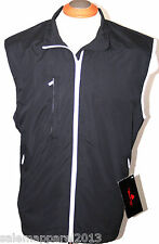 THE WEATHER COMPANY MENS GOLF VEST WATERPROOF RAIN JACKET BLACK S M L XL 2XL 3XL