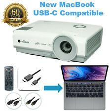 ViviTek D859 DLP Professional Projector - New MacBook Mac iOs USB-C Compatible