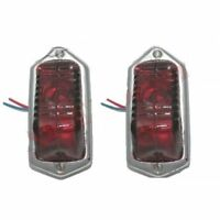 Pair Lucas Type L471 Rear Tail Stop Light Assembly With Bulb Morris Minor 1949-5