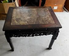 ANTIQUE  MARBLE TOP TABLE - Chinese Influence
