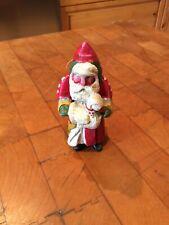 "House of Hatten FOREST SANTA WITH GOOSE 5"" Ornament 1988 Denise Calla Folk Art"