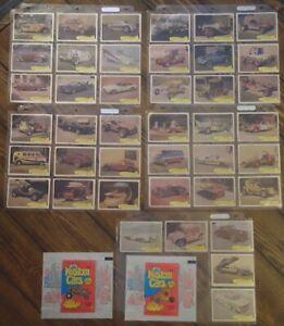 1975 Fleer George Barris Kustom Cars LOT OF 41 cards - 2 wrapper variations
