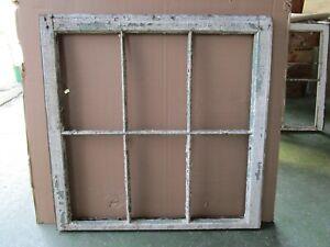1 Vintage Window sash old 6 pane 31 1/2'' Wide x  31 1/2'' Tall