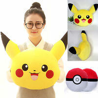Pokemon Pikachu Cushion Sofa Pillow Doll Home Decor Plush Stuffed Kid's Soft Toy