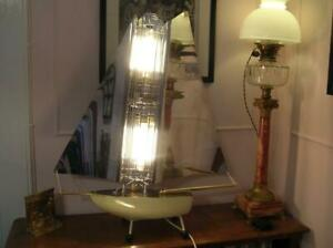 """Vintage Yacht Table Lamp. The """"Bunting"""" Yacht Fire.  Converted. (174)"""