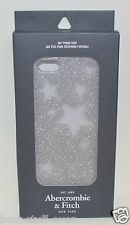 ABERCROMBIE & FITCH SILVER STARS CLEAR PLASTIC HARD IPHONE 5 CASE SLEEVE GLITTER