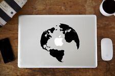 Sticker pour MacBook Pro Air - Globe - Noir ou Blanc - Fabriqué en France