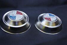 "VESPA VBB VBC 8"" Stainless Steel Hub Caps Cover Trim White Blue Red"