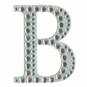 Letter Stickers Self Adhesive Diamante Glitter Crystal Alphabet Letters 5cm
