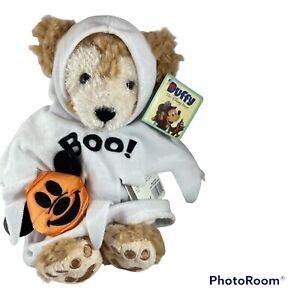 Disney Parks DUFFY THE DISNEY BEAR Halloween GHOST Boo White Costume Plush