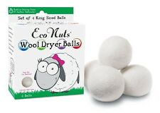 Eco Nuts Wool Dryer Balls Laundry Fabric Softener Sheets Reusable On Shark Tank