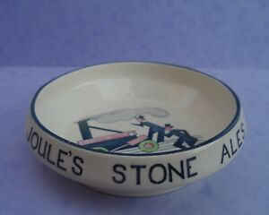 """An Art Deco Thomas Forester & Son Phoenix Ware """"Joule's Stone Ales"""" ash tray."""