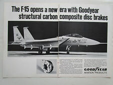 7/72 PUB GOODYEAR F-15 EAGLE GY4000 STRUCTURAL CARBON COMPOSITE DISC BRAKE AD