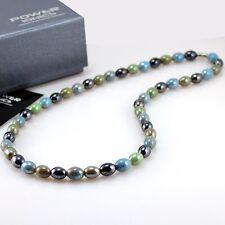 Power Ionics Ion Tourmaline Beads Stretch Necklace Chain Balance Energy w/ Box