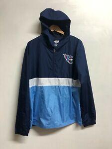 Tennessee Titans Men's Jacket Fanatics NFL 1/2 Zip Hooded Jacket - New