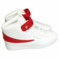 NWT FILA VULC 13 AUTHENTIC MEN'S WHITE RED MID PLUS HI TOP SNEAKERS SIZE 11.5