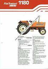 Fiat 1180 tractor 4 pg leaflet /Brochure 1980?