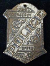 Vintage 1900-1910 Police Emergency Information Marker