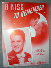 1944 A KISS TO REMEMBER Sheet Music DEAN HUDSON by Silver, Kenny