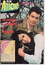 Rivista FOTOROMANZO ALBI D'AMORE ANNO 1970 NUMERO 1 DI RESA