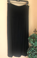 Gap Maternity Modal Spandex Comfortable High Waisted Covered Belly Black Skirt M
