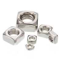 Square Nuts For Screws Bolt A2 304 DIN557 M4 M5 M6 M8 M10 M12 Stainless Steel