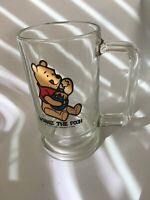 Glass Cup with Handle Winnie the Pooh Clear Cup Kitchenware