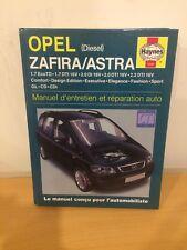 MANUEL REVUE  TECHNIQUE  HAYNES  OPEL ZAFIRA / ASTRA  Diesel