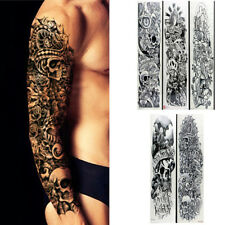 f3ddf2e79f6bf 5 Sheets Temporary Tattoo Waterproof Large Arm Body Art Tattoos Sticker  Sleeve