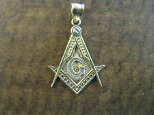 10K Yellow Gold Masonic Medallion 2.8 gram Pendant Charm 1.5''