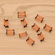 10pcs Architectural Making Model Train HO N Scale Bench Chair for Park Garden