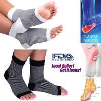 Compression Socks Foot Sleeves Men Women - Plantar Support for Heel Pain Relief
