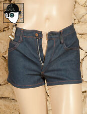 VINTAGE 70s LOW RISE DENIM SHORTS - UK 6 or small 8 - (Z)