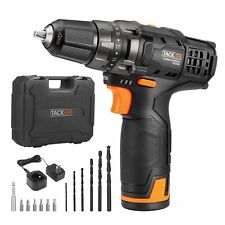 Tacklife 12V Lithium-Ion Cordless Drill/Driver Set - PCD01B 3/8-inch All-Metal